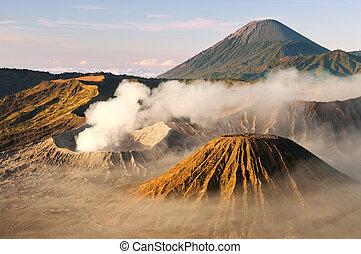 Volcano. - Mount Bromo volcanoes taken in Tengger Caldera,...