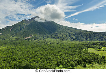 Volcano Priemysh. South Kamchatka Nature Park.