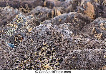 Volcano Rocks Background