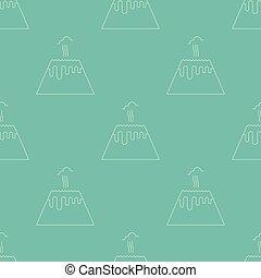 Volcano seamless pattern - Simple seamless pattern. Vector...