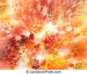 Volcano - Abstract image depicting the eruption of a volcano