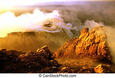 volcano - merapi
