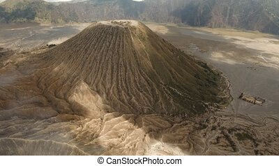 Volcano with a crater. Jawa, Indonesia. - Volcano in the...