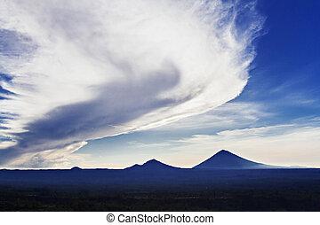 Volcanoes at sunrise - Volcanoes at the sunrise, Bali