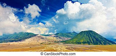Volcanoes - Bromo Tengger Semeru national park. Java. ...