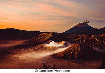 Volcanos Mount Semeru and Mount Bromo - Mount Bromo and ...