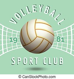 voleibol, deporte del equipo, emblema