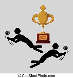 b7240b3d7 Troféu dourado voleibol Banco de ilustrações. 213 Troféu dourado ...