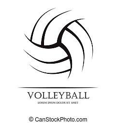 voleibol, fundo, bola