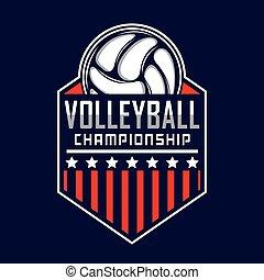 voleibol, logotipo, américa, logotipo