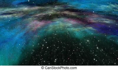 voler, étoile, univers, nébuleuse, champ, par