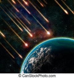 voler, astéroïdes, la terre, espace