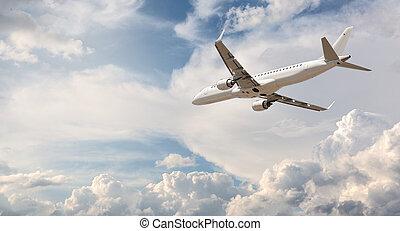 voler, avion, loin