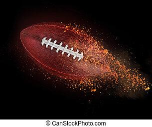 voler, balle rugby, à, terre