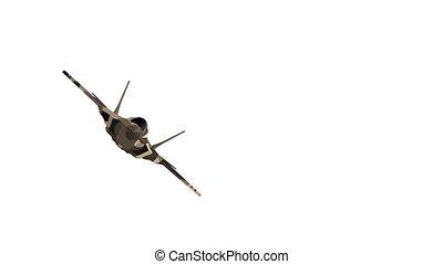 voler, camouflage., warplane., vidéo, devant, avion ...