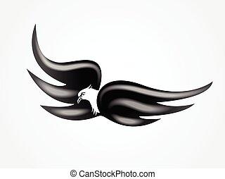 voler, logo, oiseau