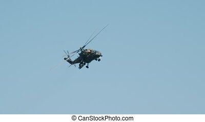 voler, militaire, camouflage, coloration, ciel, vert,...
