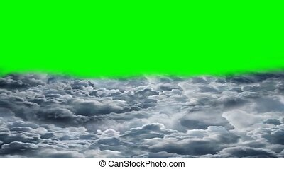 voler, nuages, sur