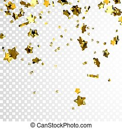 voler, or, étoiles, scintillement
