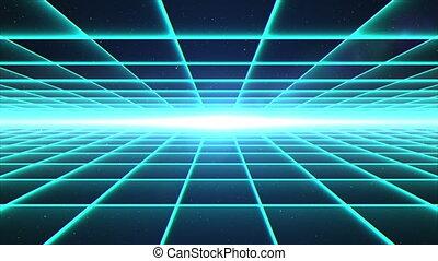voler, par, grille, tunnel, matrice, espace