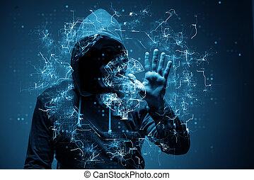 voler, pirate informatique, dollars, banque