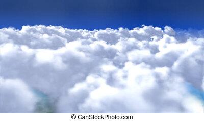 voler plus, nuages