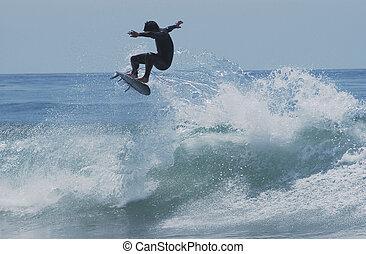voler, surfeur