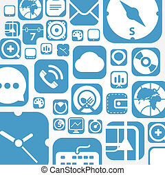 voler, toile, graphique, interface, icônes, fond
