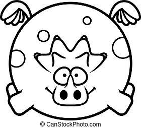 voler, triceratops, dessin animé