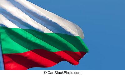 voler, vent, drapeau, bulgarie, national
