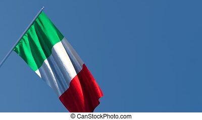 voler, vent, drapeau italie, national