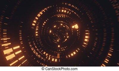 voler, vj, or, 4k, simulation, uhd, 3d, lumière, rendre, boucle, pixel
