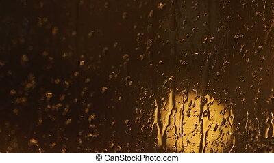volet fenêtre, closeup, gouttes pluie