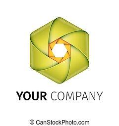 volet, logo, résumé, appareil photo, coloré