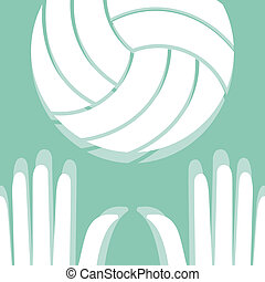 voleyball, pictogramme