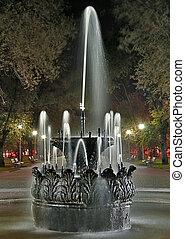 volgograd, πάρκο , κρήνη , γριά , νύκτα