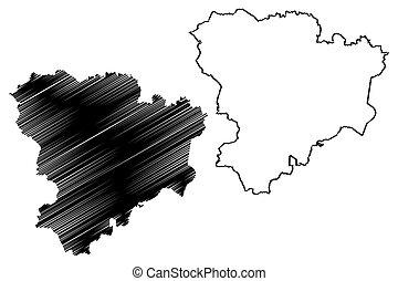 volgograd, mapa, oblast