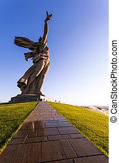 """Volgograd, Russia 01.08.2014. World War II """"Motherland calls..."""