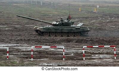 Military tank - Volgograd, Russian Federation - April 01,...