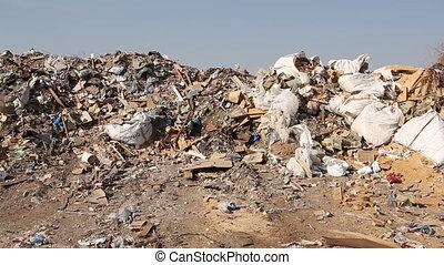 Large garbage dump waste