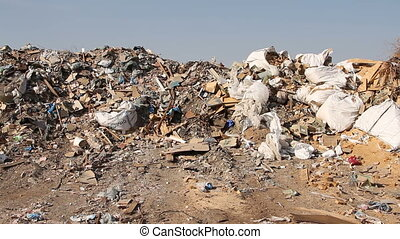 Large garbage dump waste - Volgograd, Russian Federation...