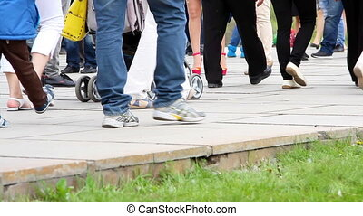 People cross the road - Volgograd, Russsian Federation - 09...