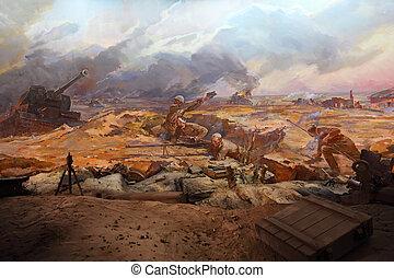 volgograd, -, september, 19:, del av, panorama utsikt, in, museum, hos, mamaev, kurgan, på, september, 19, 2010, in, volgograd, russia.