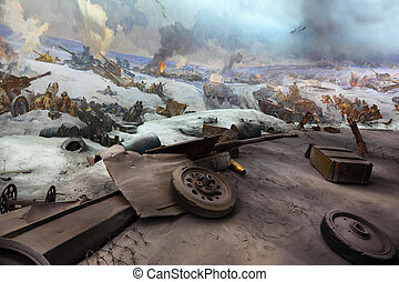 volgograd, -, september, 19:, panorama utsikt, in, museum, hos, mamaev, kurgan, på, september, 19, 2010, in, volgograd, russia.