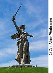 volgograd statue - Motherland. Monument of Volgograd, Russia