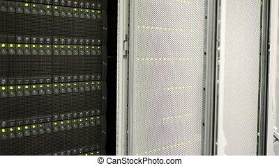 volle, data, het knipperen, servers