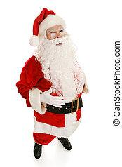 volle, ho, kerstman, aanzicht