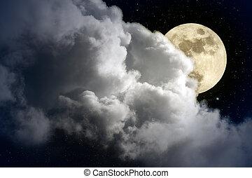 volle maan, nacht