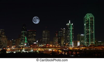 volle maan, op, dallas