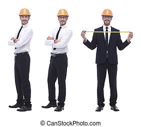volle, .qualified, witte , groei, ingenieur, architect, vrijstaand